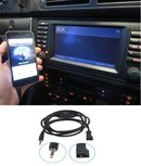 Bmw E39 Aux kabel Bmw E46 Aux kabel Bmw E38 Aux kabel Bmw E53 Aux kabel Bmw X5 Aux kabel Navigatie 16:9 Iphone Ipod