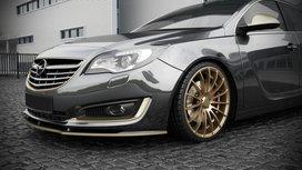Voorspoiler Spoiler Opel Insignia Facelift vanaf 2013 Hoogglans Pianolak Zwart