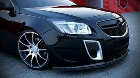 Voorspoiler Spoiler Opel Insignia OPC / VXR vanaf 2008 t/m 2013 Hoogglans Pianolak Zwart