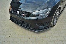Voorspoiler spoiler Seat Leon III Cupra FR Vanaf 2012 Carbon Look
