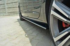 Sideskirt Diffuser Seat Leon III Cupra FR vanaf 2012 Hoogglans Pianolak Zwart