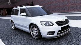Voorspoiler spoiler Skoda Yeti Facelift vanaf 2013 Carbon Look