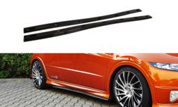 Sideskirt Diffuser Honda Civic VIII S / R 2006 t/m 2011 Carbon Look