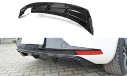 Diffuser achterbumper Seat Leon III FR Hoogglans Zwart