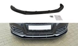 Voorspoiler spoiler Audi S3 8p Facelift 2009 / 2013 Versie 2 Hoogglans Zwart