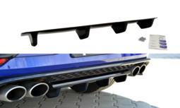 Centre Rear Splitter Volkswagen Golf 7 R R20 Facelift Hoogglans Zwart