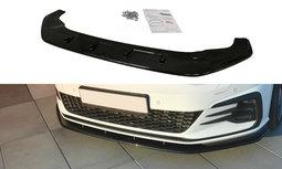 Voorspoiler spoiler Volkswagen Golf 7.5 GTI / GTD Facelift Versie 1 Hoogglans Zwart