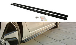 Sideskirt Diffuser Volkswagen Golf 7.5 GTI / GTD Facelift Hoogglans Zwart
