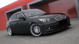 Bmw 5 Serie E60 E61 Facelift Voorspoiler Spoiler Splitter Hoogglans Zwart