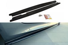 Bmw 5 serie E60 E61 M Pakket Sideskirt Diffuser Hoogglans Zwart