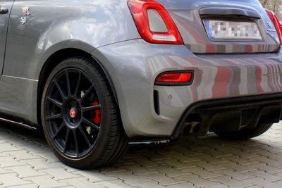 Fiat 500 Abarth Facelift Rear Side Splitters