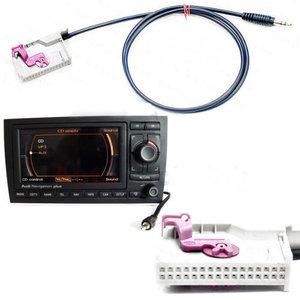 Audi RNS-E Aux RNSE Aux in kabel adapter voor Audi Navigatie