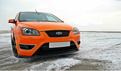 Ford Focus ST Voorpoiler Splitter Carbon look