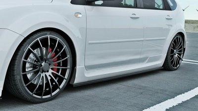 Ford Focus ST Side skirt Splitters Carbon Look