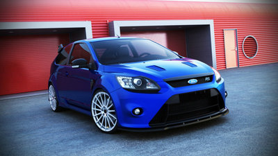 Ford Focus RS Voorpoiler Splitter 2008 t/m 2011 Carbon look