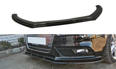 Voorspoiler spoiler Audi A4 B8 Sedan / Avant Facelift 2011 t/m 2015 Versie 1 Hoogglans Pianolak Zwart