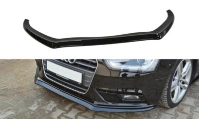Voorspoiler spoiler Audi A4 B8 Sedan / Avant Facelift 2011 t/m 2015 Versie 2 Carbon Look