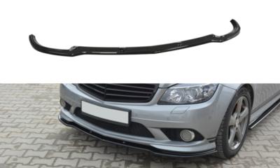 Voorspoiler spoiler Mercedes C Klasse W204 AMG Pakket 2007 t/m 2010 Carbon Look