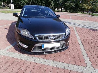 Voorspoiler spoiler Ford Mondeo Mk4 2007 t/m 2010 Hoogglans Zwart