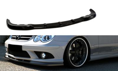 Voorspoiler spoiler Mercedes CLK W209 met AMG bumper Hoogglans Zwart
