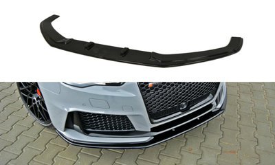 Voorspoiler spoiler Audi RS3 8V Versie 2 Hoogglans Zwart