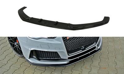 Voorspoiler spoiler Audi RS3 8V Versie 2 Carbon Look