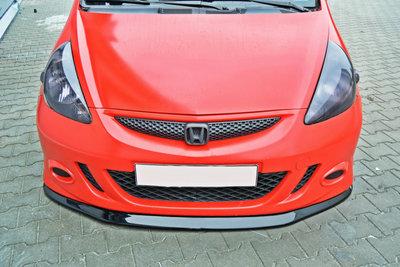 Voorspoiler spoiler Honda Jazz MK1 Versie 1 Hoogglans Zwart