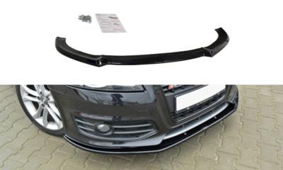 Voorspoiler spoiler Audi S3 8p Facelift 2009 / 2013 Versie 1 Hoogglans Zwart