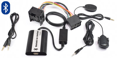 BMW E36 E38 E39 E46 BLUETOOTH, CARKIT, A2DP STREAMING, USB EN AUX INGANG MP3 INTERFACE RONDE PIN AANSLUITING