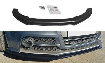Audi TTS TT S MK2 8J Voorspoiler Spoiler Splitter Versie 1 Hoogglans Zwart