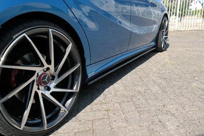 Mercedes A Klasse W176 AMG Line Sideskirt Diffuser Hoogglans Zwart