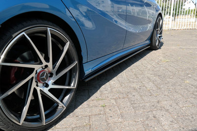 Mercedes A Klasse W176 AMG Line Sideskirt Diffuser Carbon Look