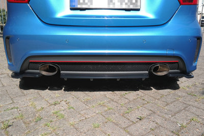Mercedes A Klasse Coupe W176 AMG Line Diffuser ValanceSpoiler Rear Centre Carbon Look