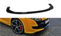 Voorspoiler spoiler Renault Megane 3 RS Versie 2 2010 t/m 2015 Hoogglans Pianolak Zwart